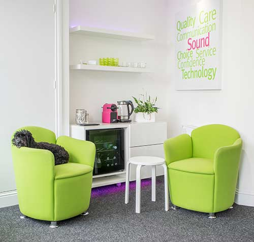Waiting area Edinburgh Hearing Centre